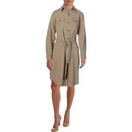 Lauren Ralph Lauren Womens Flax Collar Shirtdress - 10
