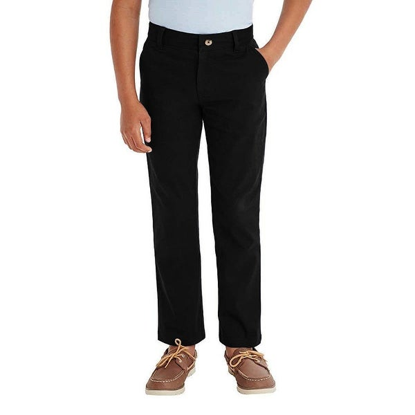 French Toast Boys Comfort Stretch Adjustable Waist Straight Leg Chino Pants
