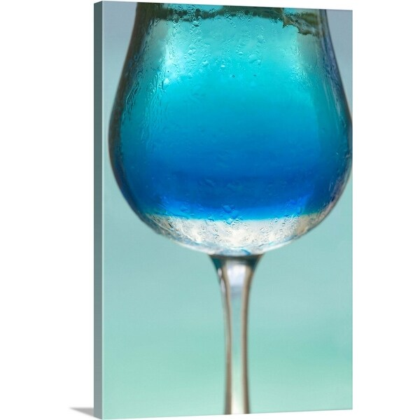 """Blue Cocktail"" Canvas Wall Art"