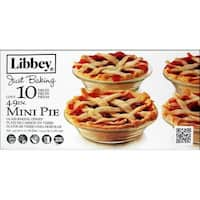 "Crisa By Libbey Glass Just Baking Pie 4.9"" 10pc"