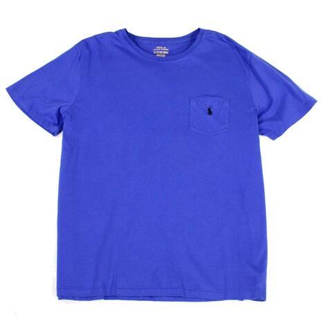 Polo Ralph Lauren Mens T-Shirt Reflex Blue Size XL Jersey Crewneck Tee