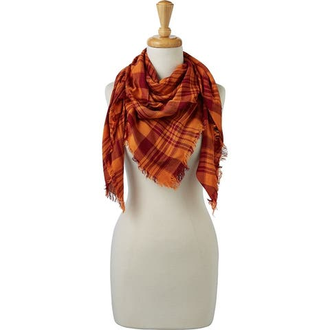 Tickled Pink Soft Square Plaid Scarf