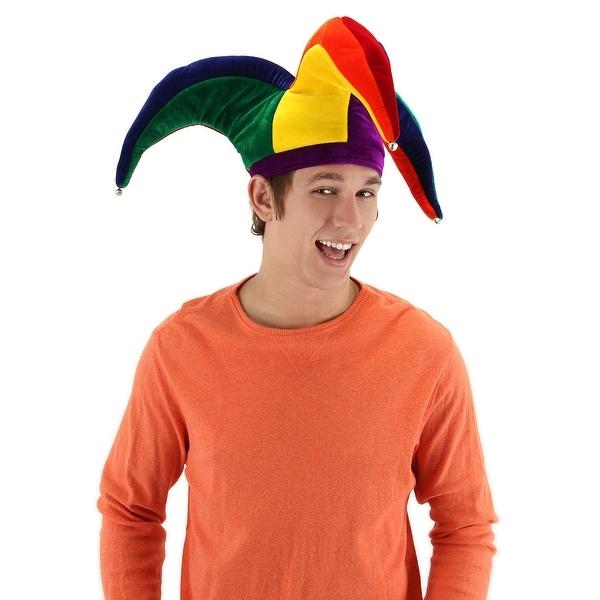Rainbow Court Mardi Gras Jester Adult Costume Hat One Size