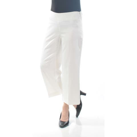 BAR III Womens White Cropped Wear To Work Pants Size 4