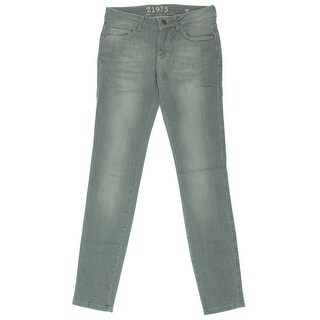 Zara Basic Womens Low-Rise Faded Skinny Jeans - 2