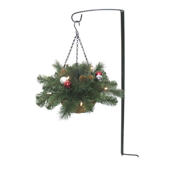 J & J Seasonal BHV-HBWP1-7 Brookhaven LED Mini Hanging Basket, 13""