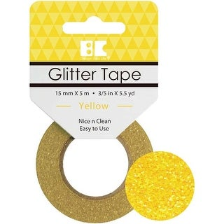 Yellow - Best Creation Glitter Tape 15Mmx5m