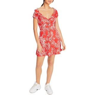 Link to Free People Womens A Thing Called Love Mini Dress Boho Linen Blend Similar Items in Dresses