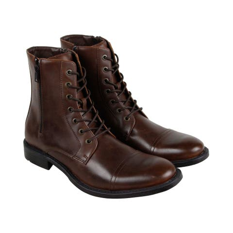 Unlisted by Kenneth Cole Blind Turn Brown Mens Casual Dress Boots