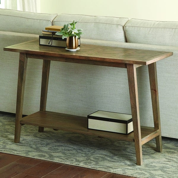 The Gray Barn Minett Solid Mango Sofa Table. Opens flyout.