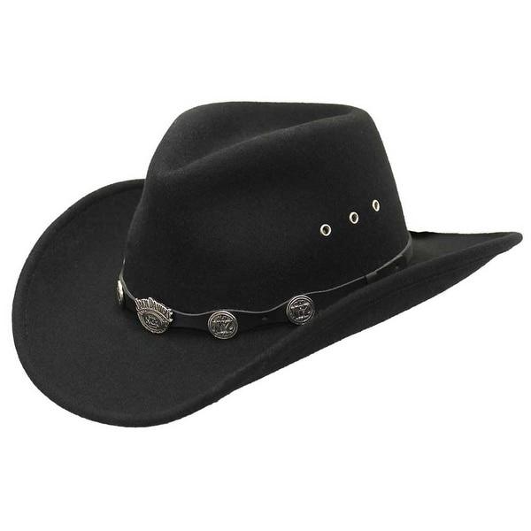 Shop Jack Daniels Men s 100% Crushable Wool Cowboy Hat aab9aeed1e15