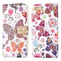 Insten Colorful Butterfly Wonderland Leather Case Cover with Stand/ Wallet Flap Pouch/ Diamond For Apple iPhone 7 Plus - Thumbnail 2