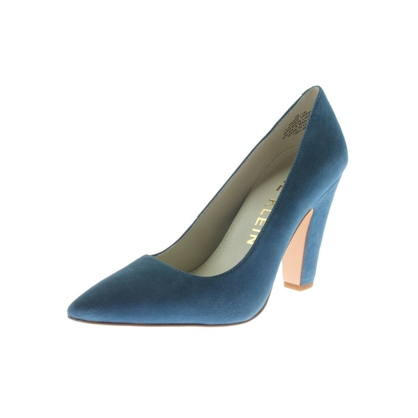 Anne Klein Womens Hollyn Pumps Suede Pointed Toe