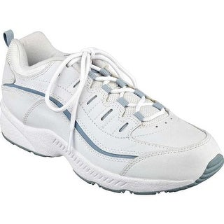 Easy Spirit Women's Romy Walking Shoe White/Grey Leather