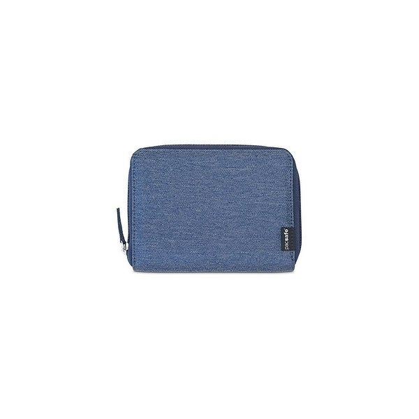 Pacsafe RFIDsafe LX150-Denim RFID Blocking Zippered Passport Wallet w/ Note Slot