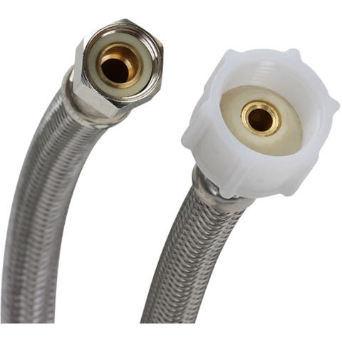 "Fluidmaster PRO1T09 9"" Toilet Connector, 3/8"" Compression x 7/8"" - Natural"