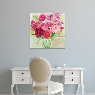 Easy Art Prints Farida Zaman's 'Pink and Red Florals' Premium Canvas Art
