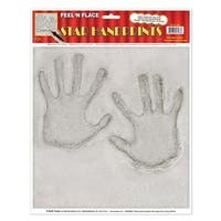 Club Pack of 12 Hollywood Stars Handprint Peel 'N Place Decorations 15""