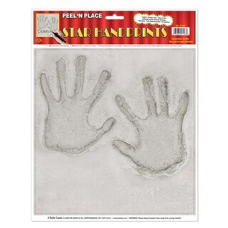 """Club Pack of 12 Hollywood Stars Handprint Peel 'N Place Decorations 15"""""""