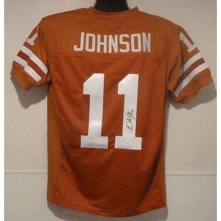 Derrick Johnson Autographed Texas Longhorns Size XL orange jersey