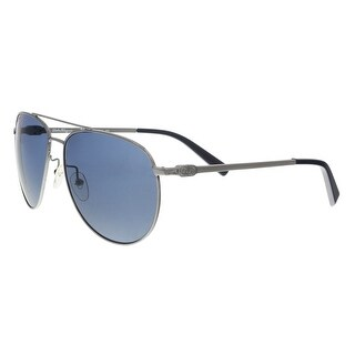 Salvatore Ferragamo SF157S 015 Dark Ruthenium Aviator Sunglasses - 60-15-140