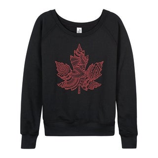 Henna Maple Leaf - Ladies French Terry Pullover