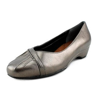 Ros Hommerson Tatum Women Round Toe Leather Gray Ballet Flats
