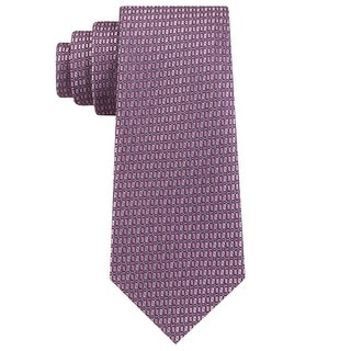 Link to Michael Kors Mens Neck Tie Silk Blend Printed - Pink - O/S Similar Items in Ties