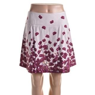Suno Womens Twill Illusion Pleat A-Line Skirt - 6