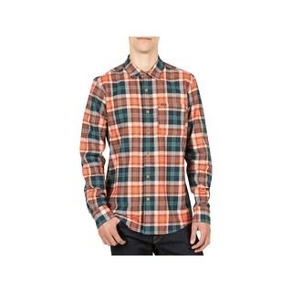 Volcom Mens Hayden Flannel Casual Shirt Adjustable Sleeves Flannel - 2XL