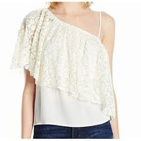 Ella Moss NEW White Ivory Womens Size Small S Floral-Lace Blouse