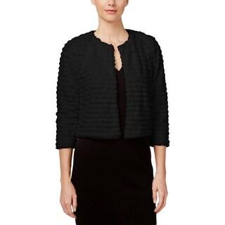 Calvin Klein Womens Shrug Faux Fur Grooved
