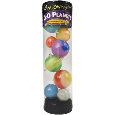 3-D Planets In Tube-