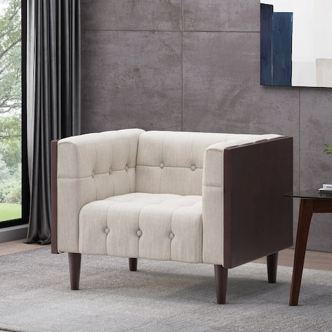 """McLarnan Contemporary Tufted Club Chair by Christopher Knight Home - 44.50"""" L x 31.00"""" W x 30.50"""" H"""
