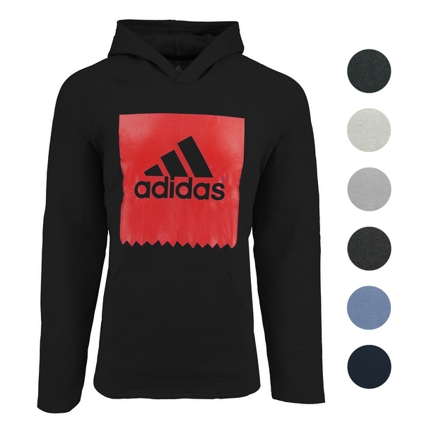 a48c91810 Shop adidas Men's Solid Blackbird Hooded Sweatshirt - On Sale - Free  Shipping On Orders Over $45 - Overstock - 27195782