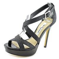 Nina Sevilla Women Black Glitter Sandals