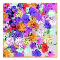 Pack of 6 Metallic Multi-Colored Flower Garden Celebration Confetti Bags 0.5 oz.