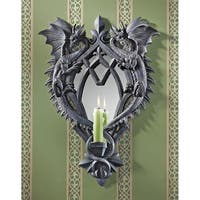 Design Toscano Halloween  Double Trouble Gothic Dragon Mirrored Wall Sculpture
