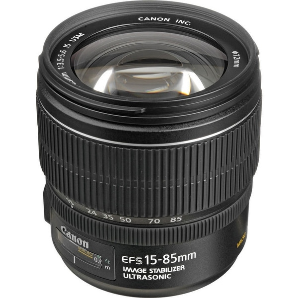Canon EF-S 15-85mm f/3.5-5.6 IS USM Lens (International Model)