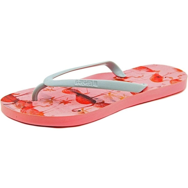 Tidal Flamingo   Open Toe Synthetic  Flip Flop Sandal