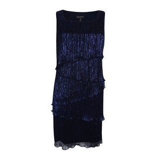 Connected Apparel Women's  Petite Tiered Sheath Dress - 8P