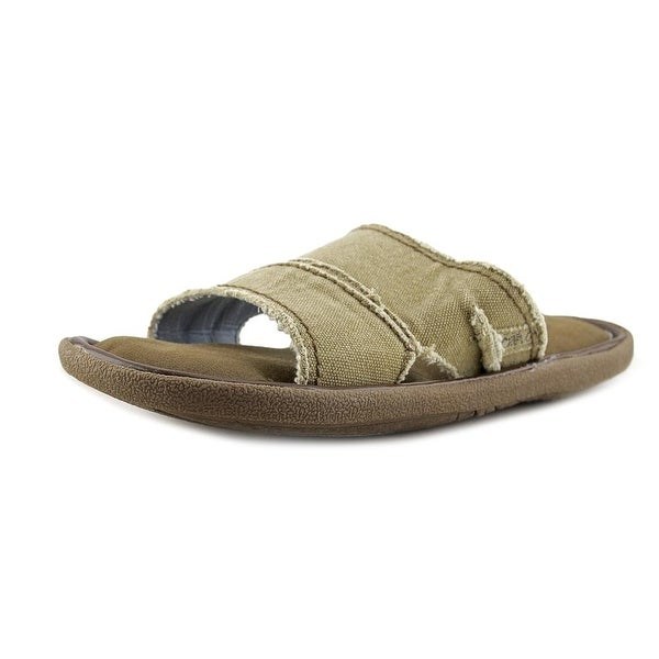 Crevo Fremont II Men Open Toe Canvas Slides Sandal