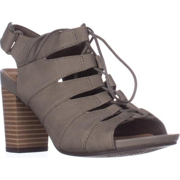 Clarks Banoy Waneta Lace Up Sandals, Sage Nubuck