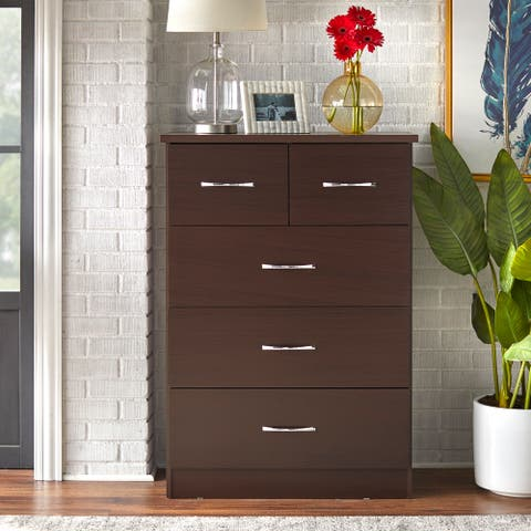 Simple Living Nevada 5 Drawer Chest