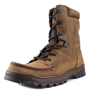 Rocky 8729 Outback Men Moc Toe Leather Brown Hiking Boot