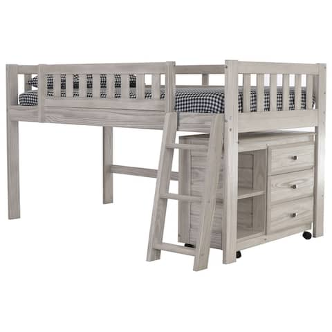 OS Home and Office Model 85204 Ash Twin Low Loft with Chest