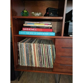 Carson Carrington Retro Clarence Media Bookshelf Console
