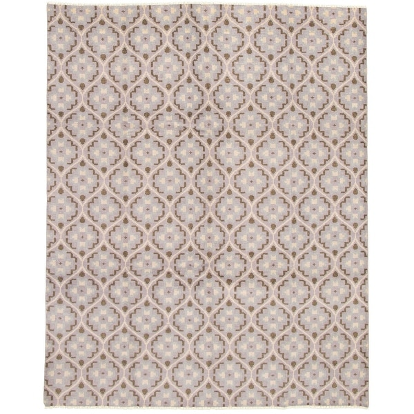 ECARPETGALLERY Hand-knotted Eternity Grey Wool Rug - 8'0 x 10'0. Opens flyout.