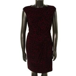 Lauren Ralph Lauren Womens Matte Jersey Sleeveless Wear to Work Dress - 4