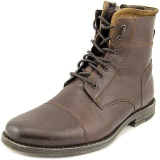 Kenneth Cole Reaction Steer The Wheel Men  Round Toe Leather Brown Boot